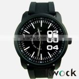 Men's Women Sports Watch Big Dial Analog Silicone Strap Quartz Wristwatch New