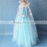 Hot Selling New Style Girls Frozen Dress Elsa Anna beautiful Dress Fashion princess Dress Children's Cloting 10pcs/lot