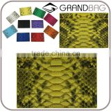 Wholesale Bright Yellow Color Python Snake Skin Leather Purse Wallet Credit Card Holder for women
