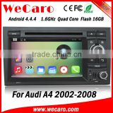New Arrive WIFI 3G for audi a4 in car radio 2002-2008 dashboard GPS navigator TV Radio tuner CD Player