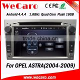 WECARO 2 Din USB LCD Screen Stereo Pure Android 4.4.4 Car Auto Radio for Opel Astra GTC 2004 - 2009                                                                         Quality Choice