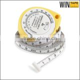Medical BMI calculator customized promotional body tape measure mini yellow gift                                                                         Quality Choice