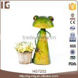 Good quality metal frog garden decoration 25x14x34CMH HG7202 animal craft activities for wholesales