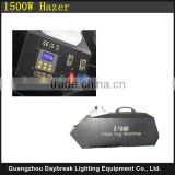 Professional quality 1500w Haze Machine LCD display Screen / DMX / Remote control stage effect fog smoking hazer