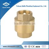 Brass forged check valve with plastic disc
