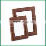 Custom PU Leather Picture Frame To Frame Your Photo, Classic Photo Picture Frame Size Color Option