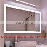 Wall Mount LED Lighted Frameless Bathroom Mirror with Clock                                                                         Quality Choice