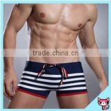 2015 new arrivals Fashion Men's swimwear fabric Sexy Shorts Boxers Sports suit Men Swimwear