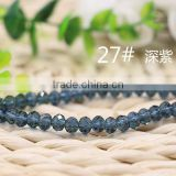 Navy 2mm to 12mm 64 Colors Stocks Wholesales Factory Price Loose Crystal Facted Roundelles Glass Beads for Jewelry Cheapest