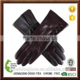 smartphone soft nappa silk lined leather gloves