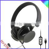 Latest Fashionable Stylish headset high performance multimedia headsets for computer with detachable PC microphone