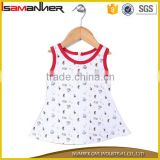 Hot selling neckline sleeveless lovely print a line baby dress modern                                                                                                         Supplier's Choice
