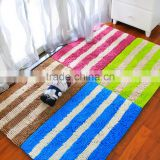 Hot sale new style Shaggy chenille two color stripe mat home textile floor carpets / cheap rug