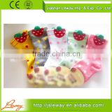 custom print socks with anti-slip white dots of comfortable fashional new design suitable for girls