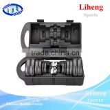 Black paint Set dumbbell 20kg Type cast iron adjustable dumbell