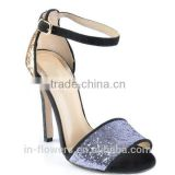 High heel glitter sequins ankle Strap Sandals