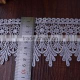 New arrival embroidered lace applique battenburg lace trim lace trim black
