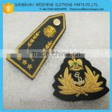military uniform embroidery emblems patch/Handmade Gold Bullion Wire Embroidery Badge crest, grenade badge, crest                                                                         Quality Choice