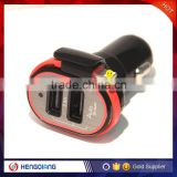 low price high quality mini dual port car usb charger coloful Mobile Phone Charger