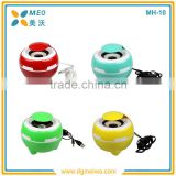 Promotional gift wired portable speaker , mini speaker with FM radio
