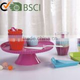 Plastic cake stands ,melamine wedding cake stand from china
