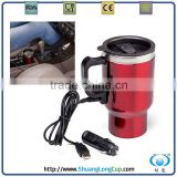 14oz wholesales stainless steel heating mug for car coconut cup