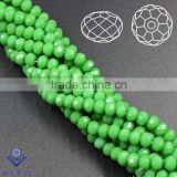 Green Series 4MM Jade Material flat rondelle 48 faceted rondelle loose crystal beads