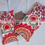 Square Shape and 100% Cotton Material vintage suzani cushion suzani pillow Cover Manufacture in india