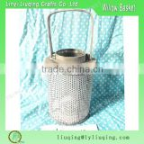 wholesale Pillar Wire hanging candle holder wooden Lantern