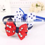 High Quality Girls Korean Fashion Bow Headband Hairband Elegant Hair Accessories Lovely Cute Baby Girls Hair Jewelry