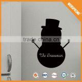 Popular snowman stickers,eco-friendly black wall decals blackboard sticker