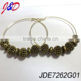 78 MM large hoop earrings with cc beads