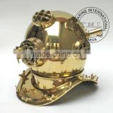 BRASS DIVING HELMET MARK V - U.S. NAVY DINER'S HELMET MARK V - NAUTICAL MARITIME DIVING HELMET - COLLECTIBLE GIFT