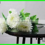 7 heads white plastic crystal wedding daisy flower bouquet