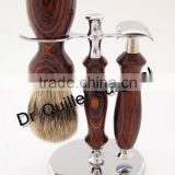Complete Men Shaving Brush Stand Set With Wood Handle Safety Razor, Shaving Stand, Shaving Brush Free Shipping For 50 Sets