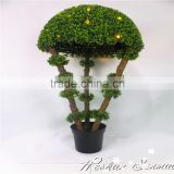 new product customize design artificial led indoor home decoration light led topiary tree with pot