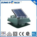 12 inch With thermostat switch Square solar powered cooling fan