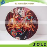 self adhesive 3D lenticular changing stickers