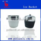 wholesale price Stainless Steel leather wrapped ice bucket ,stainless steel ice bucket ,cocktail bucket,