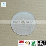 Silk printing clear acrylic display disc with protective film