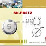 Silver chroming plated frame stainless steel surface elevator call button//elevator push button/SN-PB512