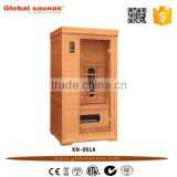 Mini High quality far infrared tourmaline sauna room,indoor sauna ,portable sauna room Globalsaunas KN-001A