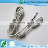 USB to Harness white cable assembly with magnetic ring housing terminal cable wire harness