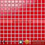 IMARK Red Color Porcelain Mosaic Tile/Ceramic Mosaic Tile For Swimming Pool Wall Decoration