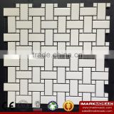 IMARK China Manufacturing White Color Porcelain Mosaic Tile/Decorative Bathroom/Kitchen Wall/Floor Tile