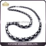 KSTONE Stainless Steel for men Byzantine link chain Necklace