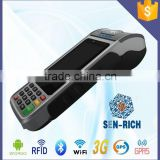 Payment Portable POS Terminal with Android OS,Printer,RFID,MSR,Bluetooth,Wifi,3G,GPS,Camera,EMV