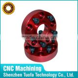 Custom CNC machined wheel spacer turning drilling spare parts