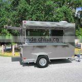 Outdoor Fiberglass Buffet Orange Kiosk FRP Food Kiosk