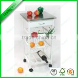 New fashion design bamboo kitchen serving trolley cart /FSC